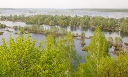 Novgorod-Severskiy πλημμύρα Desna Στοκ εικόνες με δικαίωμα ελεύθερης χρήσης