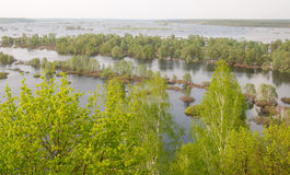 Novgorod-Severskiy powódź Desna Obrazy Royalty Free