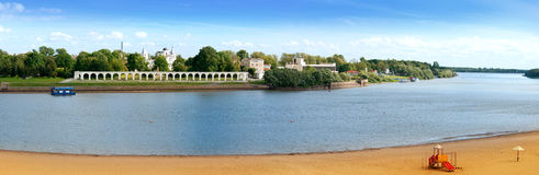 Novgorod view on the Volkhov river Royalty Free Stock Images