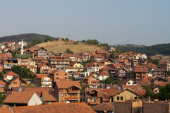 Novi Pazar城镇视图 库存图片
