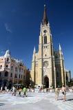 Novi Sad - o nome da catedral de Mary fotos de stock royalty free