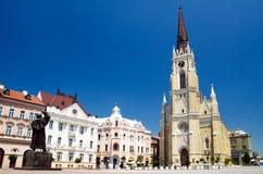 Novi Sad - τετράγωνο ελευθερίας Στοκ Φωτογραφία