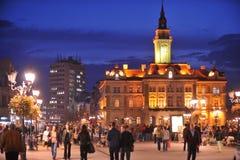 Novi Sad, ayuntamiento Fotos de archivo libres de regalías