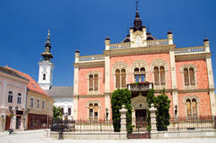Novi Sad - Bishop's Palace. Novi Sad is the capital of the northern Serbian province of Vojvodina and is the second largest city in Serbia, after Belgrade royalty free stock photography