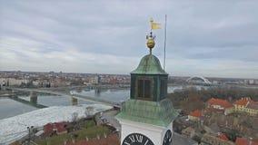 Novi Sad city panorama stock video