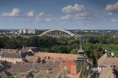Novi Sad-Dachspitzenansichten Lizenzfreie Stockfotografie