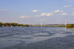 Novi Sad and Danube river in Serbia stock images