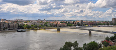 Novi Sad and Danube river in Serbia royalty free stock images