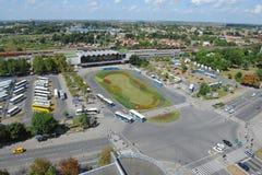 Novi Sad, ferrocarril Fotografía de archivo libre de regalías
