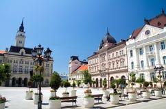 Novi Sad - het Vierkant van de Vrijheid Royalty-vrije Stock Foto's