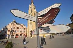 Novi Sad - het Vierkant van de Vrijheid Stock Fotografie