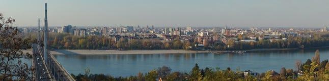 Novi Sad i Danube rzeka Zdjęcie Royalty Free