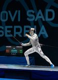 Seniors Team Male - Sabre stock images