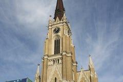 Novi Sad, 05 01 2018 - Le nom de Mary Church est une église paroissiale de Roman Catholic à Novi Sad Images stock
