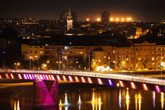 Night view of Novi Sad Royalty Free Stock Images