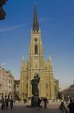 Novi Sad, o nome de Mary Church é um romano - igreja paroquial católica em Novi Sad, Sérvia Imagens de Stock Royalty Free