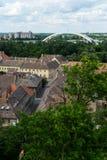 Novi Sad and Petrovaradin towns Royalty Free Stock Photo