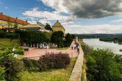 Novi Sad and Petrovaradin towns Stock Photography