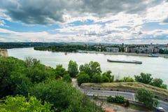 Novi Sad and Petrovaradin towns Royalty Free Stock Photos