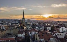 Novi Sad przed zmierzchem zdjęcie royalty free