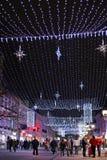 Novi Sad, Serbia, Año Nuevo Imagen de archivo libre de regalías