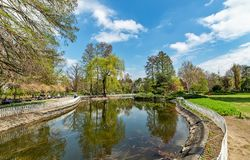 Danube Park or Serbian: Dunavski Park is an urban park in the downtown of Novi Sad. royalty free stock photography