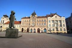 NOVI SAD, SERBIA - APRIL 03: View of Liberty Square (Trg Slobode Stock Images