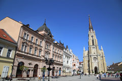 NOVI SAD, SERBIA - APRIL 03: View of Liberty Square (Trg Slobode Stock Photography