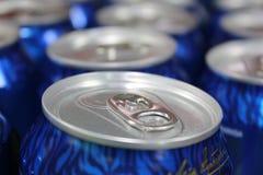 Novi Sad, Serbia, 06.02.2018 blue canned beer royalty free stock photos