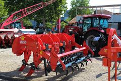 Novi Sad, Serbia, 20.05.2018 Fair, Vigolo ripper. Novi Sad, Serbia, 20.05.2018 Fair, brand new Vigolo ripper, red and black color Royalty Free Stock Photos