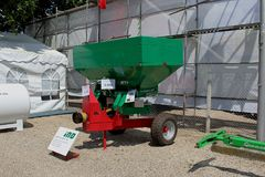 Novi Sad, Serbia, 20.05.2018 Fair, Ino Fertilizer Spreaders stock photography