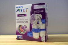 Philips Avent manual breast pump Royalty Free Stock Images