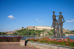 NOVI SAD, SERBIA - JUNE 11, 2017: Monument dedicated to the victims of the Shoah in Serbia in front of the Petrovaradin Fortress Stock Image