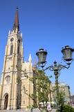 NOVI SAD SERBIA, KWIECIEŃ, - 03: Widok na Katolickiej katedrze od wyzwolenia Obraz Stock