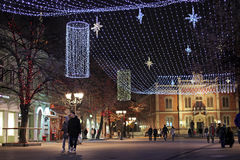 Novi Sad, Serbia, New Year Stock Photo