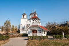 Serbian Orthodox Church of Saint Petka in the city of Petrovaradin, Novi Sad, Serbia royalty free stock photo