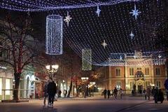 Novi Sad, Serbia, nowy rok zdjęcie stock