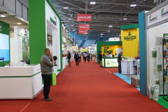 Novi Sad, Serbia: possono 2 2016 - Agro fiera di Novi Sad Immagine Stock