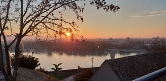 Novi Sad - Serbia - Sunset. Novi Sad - Serbia stock images