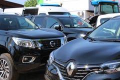 Novi Sad Serbien, 20 05 Mässa 2018, Renault och Nissan Royaltyfri Bild