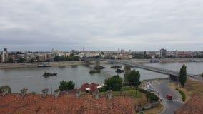 Novi Sad sikt royaltyfria foton