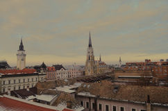 Novi Sad. View of the Serbian city of Novi Sad. is the third largest city in Serbia, the administrative seat of the province of Vojvodina and of the South Bačka Royalty Free Stock Image