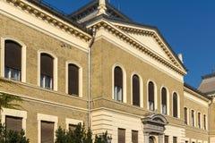 Building Matica Srpska cultural center in City of Novi Sad, Vojvodina, Serbia. NOVI SAD, VOJVODINA, SERBIA - NOVEMBER 11, 2018: Building Matica Srpska cultural stock photography