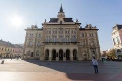 City Hall at the center of the City of Novi Sad, Vojvodina, Serbia. NOVI SAD, VOJVODINA, SERBIA - NOVEMBER 11, 2018: City Hall at the center of the City of Novi royalty free stock photo