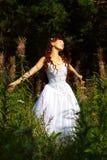 Novia al aire libre Imagenes de archivo
