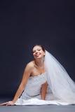 Novia alegre Foto de archivo libre de regalías