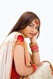Novia bengalí hermosa Foto de archivo libre de regalías