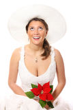 Novia bonita en un sombrero Fotos de archivo libres de regalías