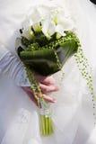 Novia con las flores Imagen de archivo libre de regalías