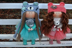 Novia de dos muñecas Imagen de archivo libre de regalías
